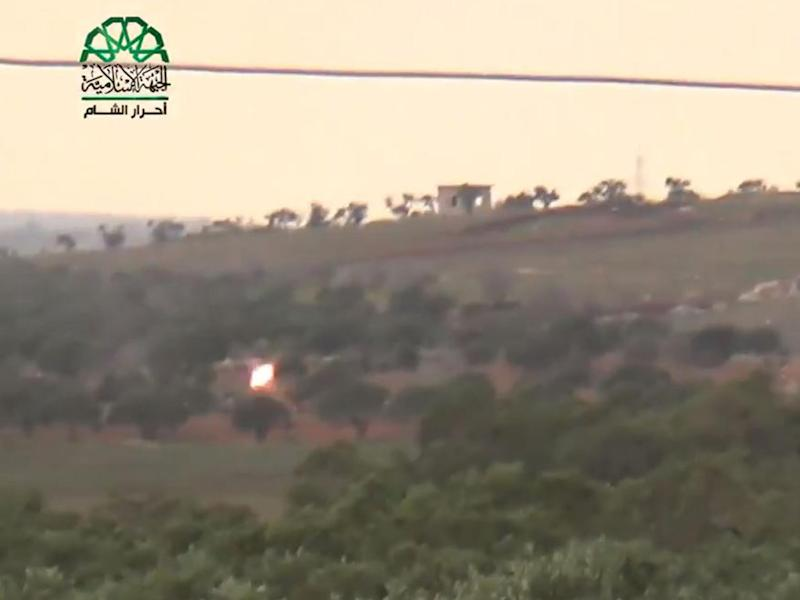 Ahrar al-Sham released video footage which appeared to show the plane being shot down: Ahrar al-Sham