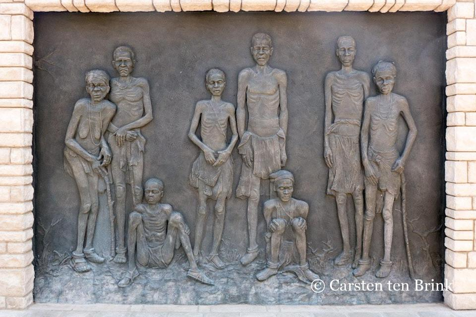 """<span class=""""caption"""">Mémorial du génocide, à Windhoek.</span> <span class=""""attribution""""><span class=""""source"""">Carsten ten Brink/flickr </span>, <a class=""""link rapid-noclick-resp"""" href=""""http://creativecommons.org/licenses/by-nd/4.0/"""" rel=""""nofollow noopener"""" target=""""_blank"""" data-ylk=""""slk:CC BY-ND"""">CC BY-ND</a></span>"""
