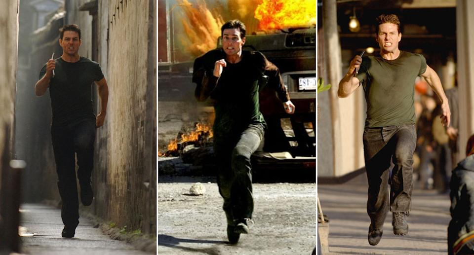 Tom Cruise running in Mission: Impossible III. (Paramount)