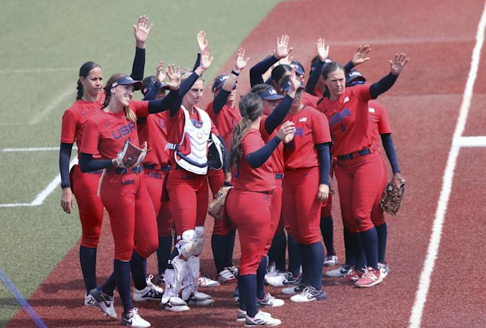 """<p>""""I don't think it was disappointing. I think we're just excited to be here and we're grateful that it's happening,"""" the outfielder on Team USA Softball said of playing without fans.</p> <p>""""I think there are circumstances where you just want to cry or something, but I think we have to adapt to whatever measures are put in place, and I think our team is very good at that. It's something that we adapt to and go compete,"""" Moultrie shared.</p>"""