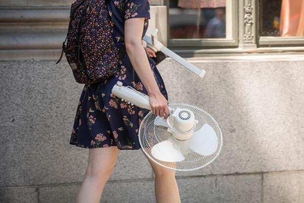 As extreme temperatures took hold, Albertans began to hunker down behind fans over ice.  (Ben Nelms/CBC - image credit)