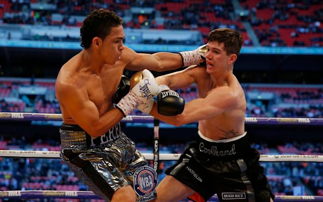 <span>Campbell saw off Perez in nine rounds</span> <span>Credit: REUTERS </span>