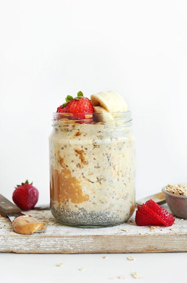 Peanut Butter Maple Overnight Oats