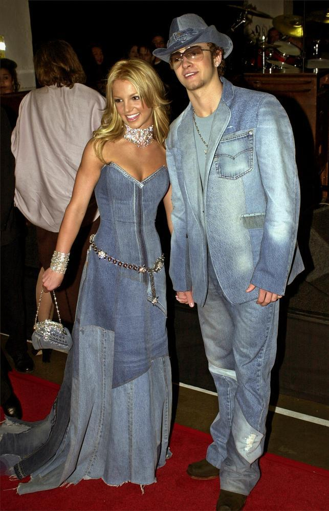 Britney Spears and Justin Timberlake in 2001.