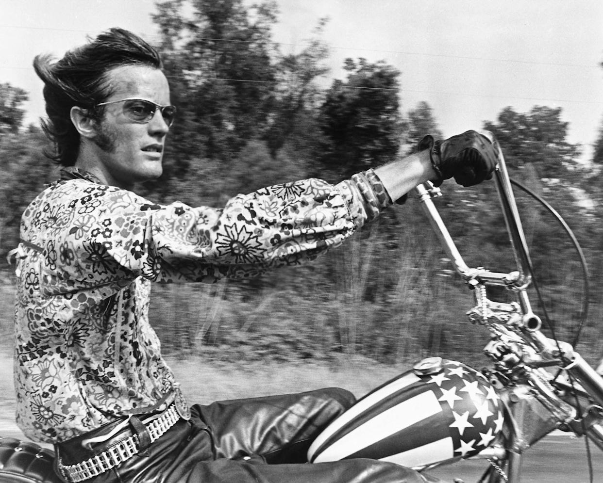 "Peter Fonda in ""Easy Rider"" (1969). (Photo: Silver Screen Collection via Getty Images)"