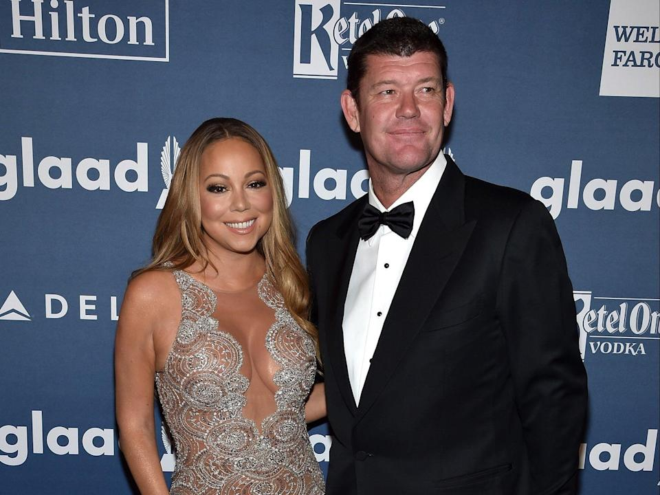 Mariah Carey says she 'didn't have a physical relationship' with her former fiancé James Packer (Getty Images for GLAAD)