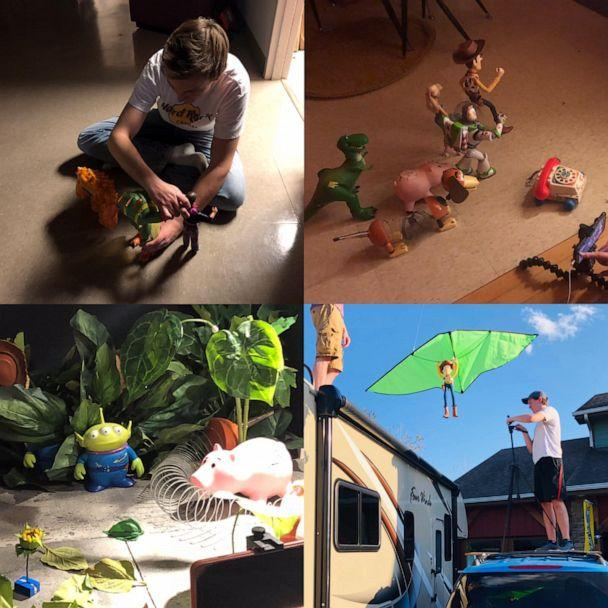 PHOTO: Behind-the-scenes of the stop motion filmmaking during Toy Story 3 IRL. (Courtesy Morgan McGrew)