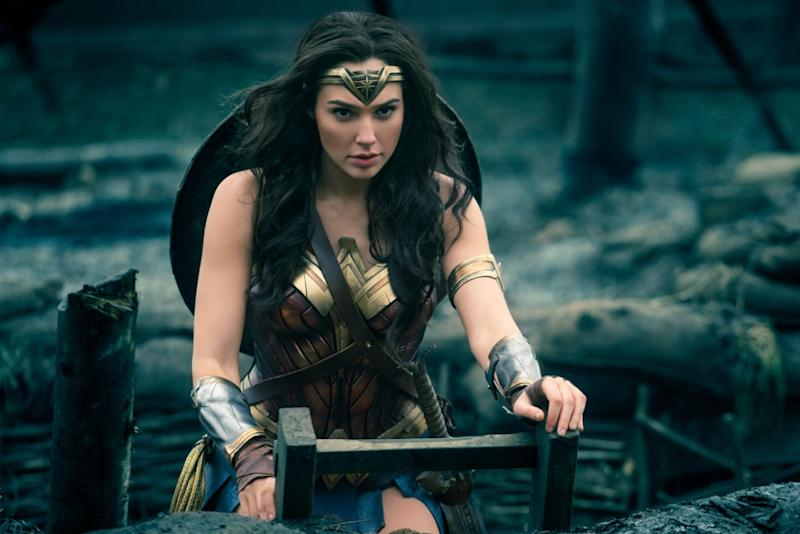 Gal Gadot in 'Wonder Woman,' now the biggest live action movie ever from a female director (credit: Warner Bros)