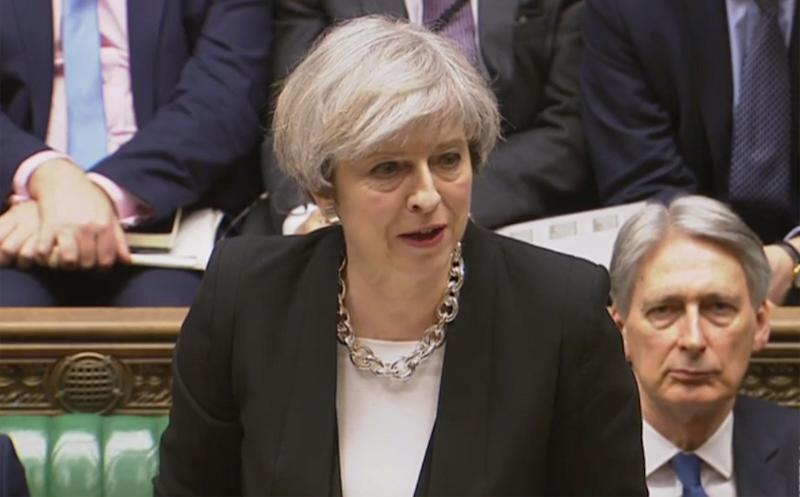 'While the public should remain utterly vigilant, they should not – and will not – be cowed by this threat,' Ms May told MPs