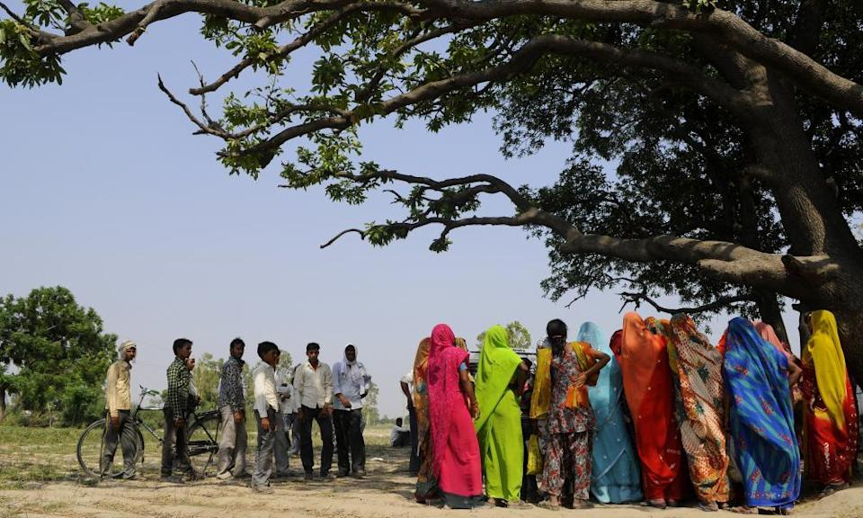 The village mango tree where two girls were raped and hanged by five men in Uttar Pradesh.