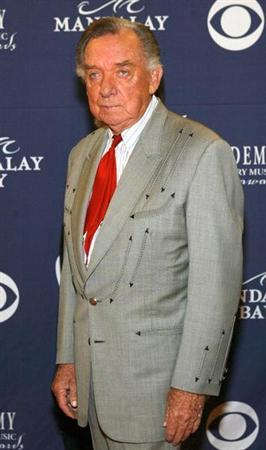 RAY PRICE ARRIVES AT THE ACADEMY OF COUNTRY MUSIC AWARDS IN LAS VEGAS.