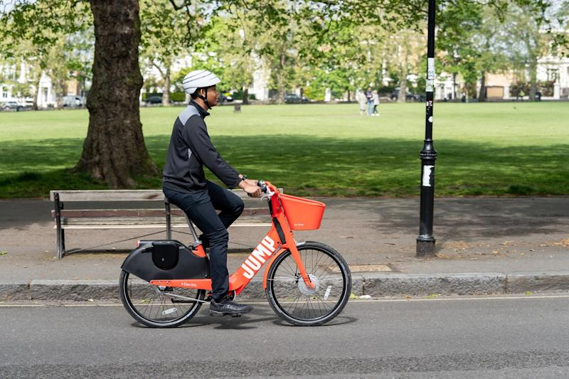 Uber's JUMP bikes are available in Camden and Islington with plans to bring them to Hackney next: Uber
