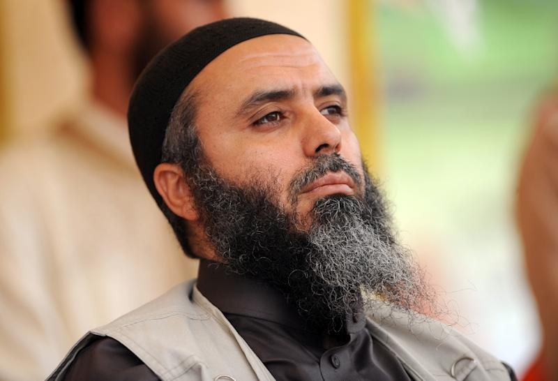 Seifallah Ben Hassine, also known as Abu Iyadh, looks on during a meeting of the jihadist group Ansar al-Sharia in Kairouan, Tunisia, on May 20, 2012 (AFP Photo/Fethi Belaid)
