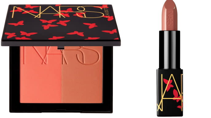 NARS Blush Cheek Duo and Audacious Lipstick - Claudette Collection. Images via Sephora