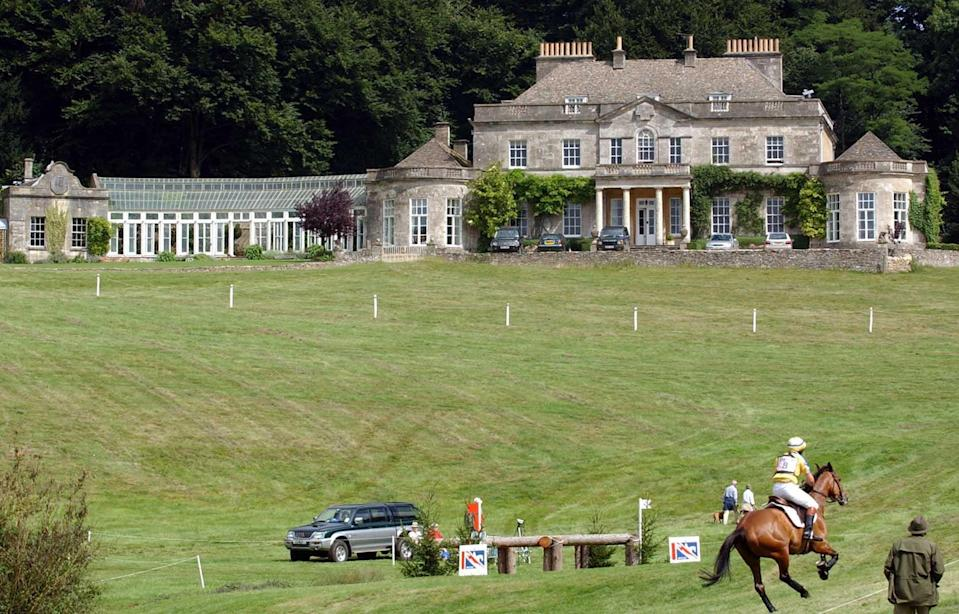 Home of Princess Royal - Gatcombe Park near Minchinhampton, Gloucestershire. The Doubleprint Festival of British Eventing is being held on the estate.