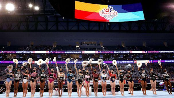 PHOTO: Members of the US National team pose following the U.S. Gymnastics Championships at Dickies Arena, June 6, 2021, in Fort Worth, Texas. (Jamie Squire/Getty Images)