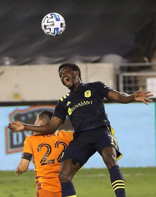 Mukhtar scores twice, Nashville beats Houston Dynamo 3-1
