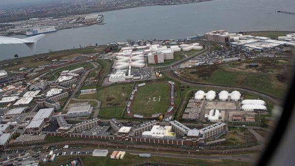 PHOTO: A view of several of the jails on Rikers Island as seen from the air, Nov. 7, 2019, in Queens, New York. (Andrew Lichtenstein/Corbis via Getty Images)