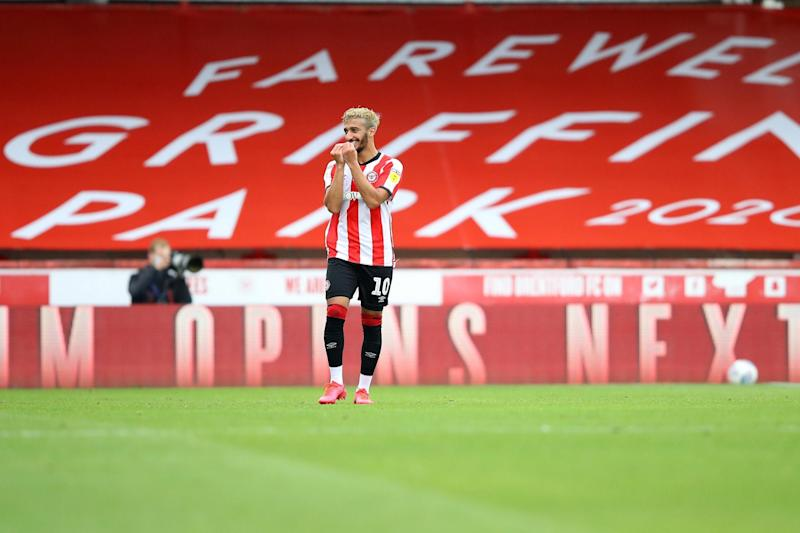 Benrahma's netted a hat-trick at Griffin Park: Getty Images