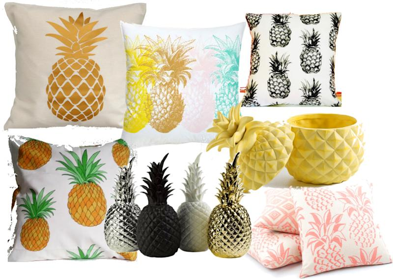 D co l ananas fait son show for Ananas deco maison