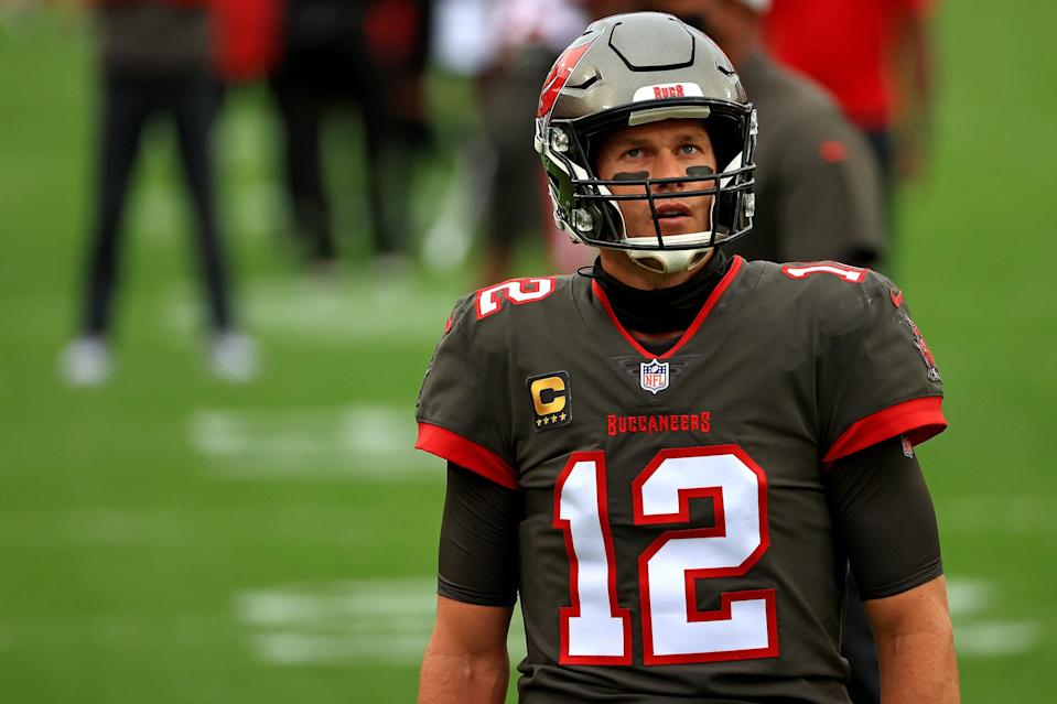 <p>Tom Brady and the Tampa Bay Buccaneers played the Atlanta Falcons at Raymond James Stadium in Tampa, Florida.</p>