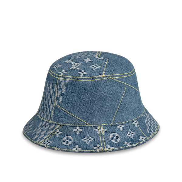 Damier Geant Wave Monogram Sun hat, S$1100, Louis Vuitton x Nigo LV2 collection. (PHOTO: Louis Vuitton)