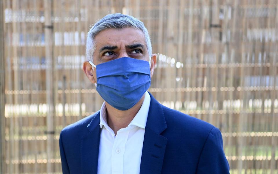 Sadiq Khan is on course for a second term in this week's mayoral race, a poll shows - FACUNDO ARRIZABALAGA/EPA-EFE/Shutterstock