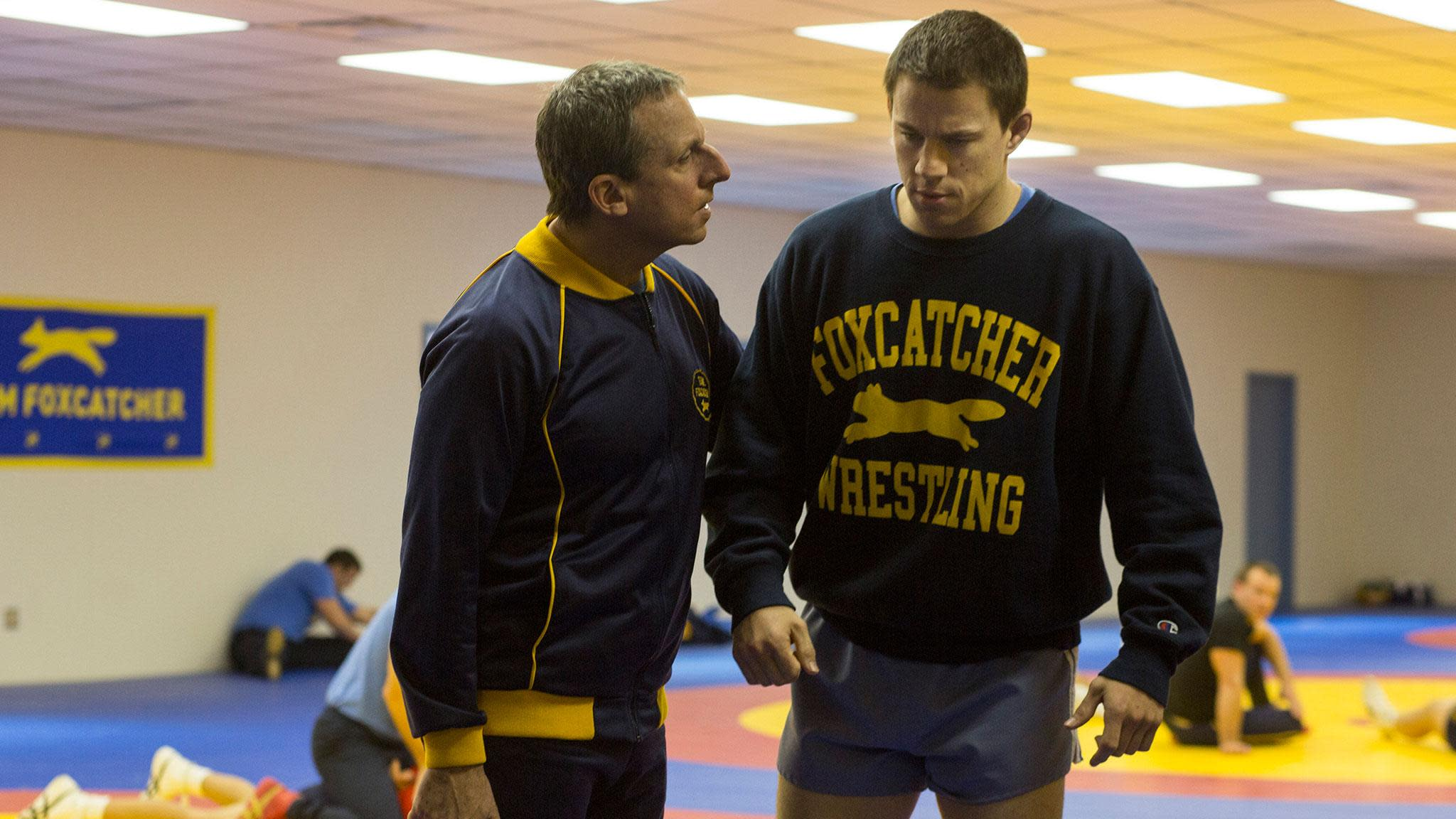 Steve Carell and Channing Tatum in 'Foxcatcher' (Sony Pictures Classics)