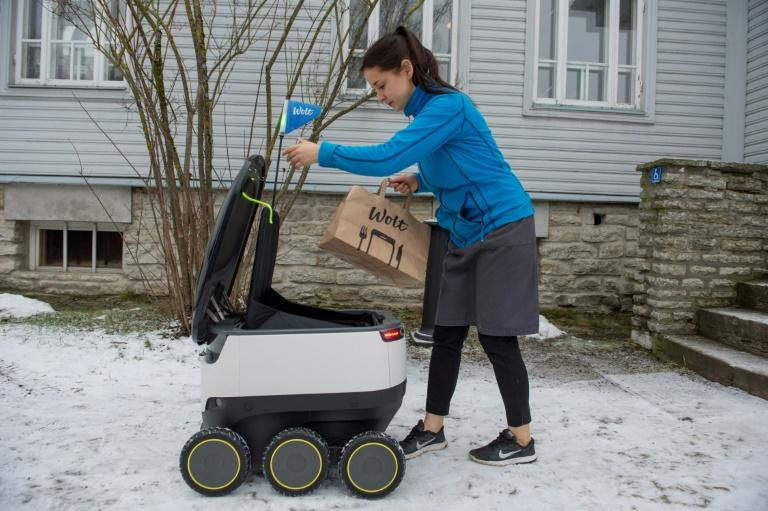 The robot is currently used to deliver food from more than 120 eateries in Tallinn, Estonia