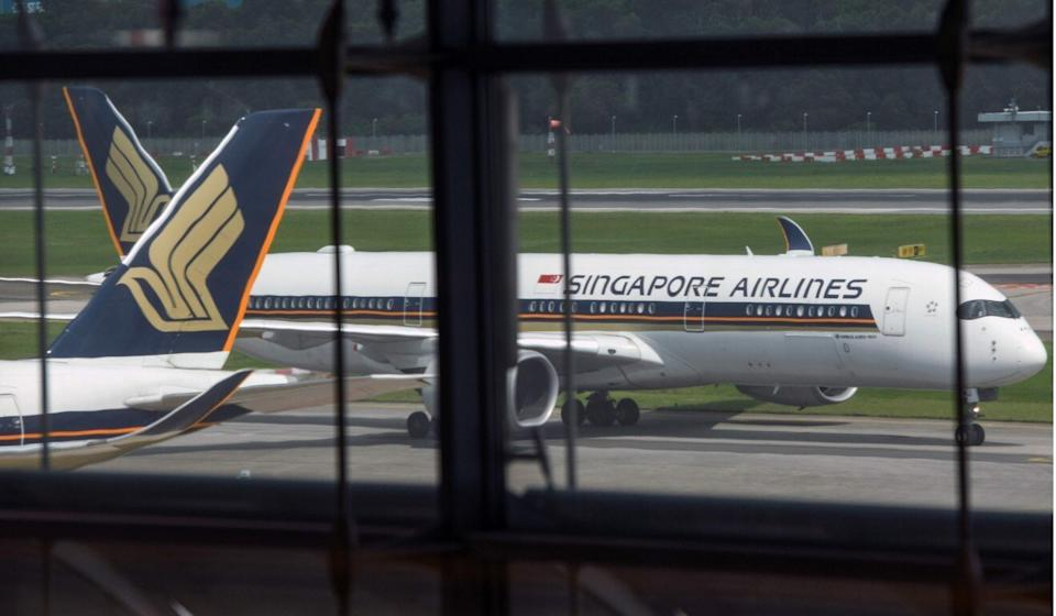 SIA has slashed its flight capacity by 93 per cent in August and September. Photo: AFP