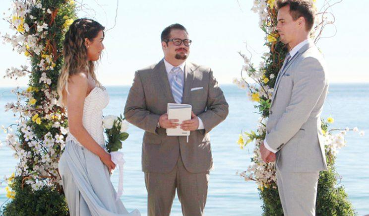 Chaz Bono plays a minister on <em>The Bold and the Beautiful</em> earlier this year. (Photo: CBS)