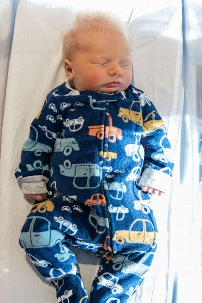 PHOTO: Bryson Drum as born on Nov. 2 at UPMC Magee-Womens Hospital in Pennsylvania, one day before Election Day 2020. His mother, Megan Walker, was able to cast her ballot from the hospital thanks to Pittsburgh Ballots for Patients. (UPMC)