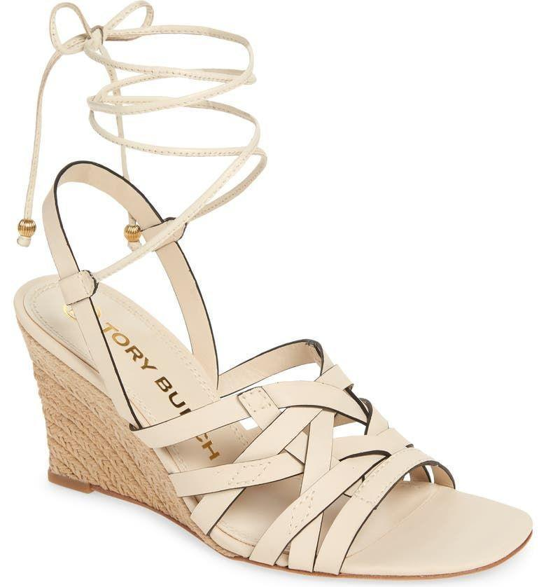 """<p><strong>$258.00</strong></p><p><a href=""""https://go.redirectingat.com?id=74968X1596630&url=https%3A%2F%2Fwww.nordstrom.com%2Fs%2Ftory-burch-espadrille-wedge-sandal-women%2F5933534&sref=https%3A%2F%2Fwww.townandcountrymag.com%2Fstyle%2Ffashion-trends%2Fg36384322%2Fbest-sandals-for-women%2F"""" rel=""""nofollow noopener"""" target=""""_blank"""" data-ylk=""""slk:Shop Now"""" class=""""link rapid-noclick-resp"""">Shop Now</a></p><p>Bring some serious glam to your summer events with these easy-to-walk-in wedges with ankle wrap detailing. </p>"""