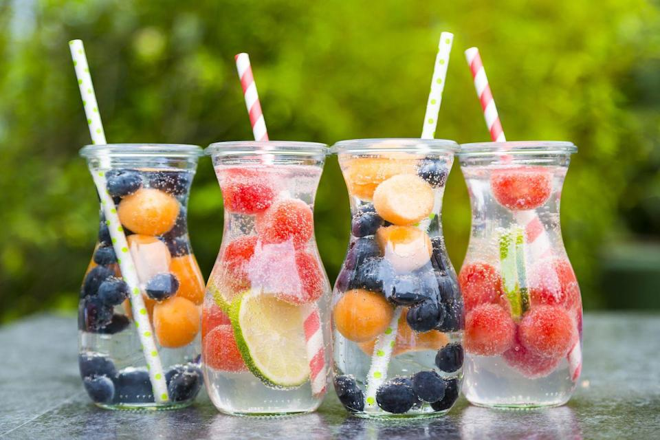 <p>Fruit infused water is helpful for those who have trouble drinking it plain. Make a batch the night before and place it in the fridge for a stronger flavor. </p>