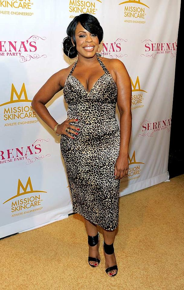"Like the soiree's hostess, former ""Dancing With the Stars"" standout Niecy Nash donned a figure-hugging, animal-print frock. Hot or not? Charley Gallay/<a href=""http://www.gettyimages.com/"" target=""new"">GettyImages.com</a> - July 12, 2010"