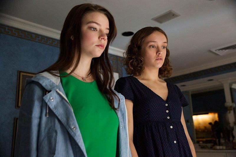 "Anya Taylor-Joy and Olivia Cooke in ""Thoroughbreds."""