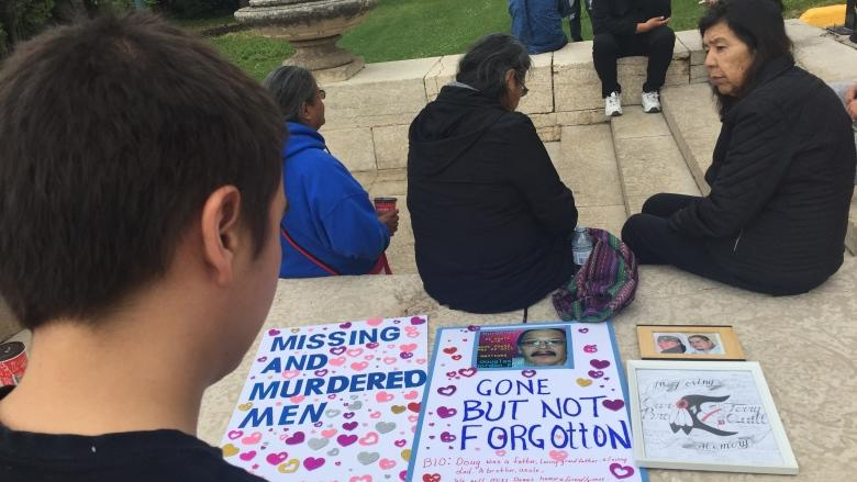 'It needs to stop': Rally draws attention to negative stereotypes of missing and murdered men