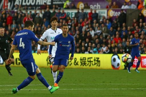 Cesc Fabregas scored his 50th Premier League goal to keep Chelsea's top-four hopes alive
