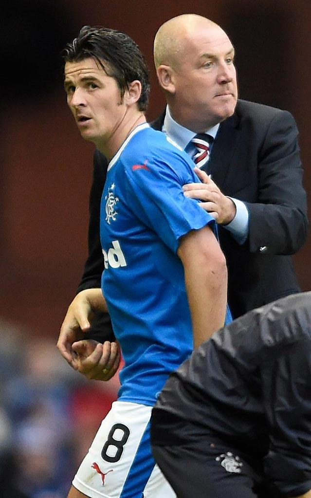 <span>Joey Barton's time at Rangers was not a success</span> <span>Credit: PA </span>