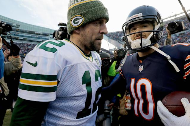 "Two of the NFL's original teams, <a class=""link rapid-noclick-resp"" href=""/nfl/teams/green-bay/"" data-ylk=""slk:Green Bay Packers"">Green Bay Packers</a> and <a class=""link rapid-noclick-resp"" href=""/nfl/teams/chicago/"" data-ylk=""slk:Chicago Bears"">Chicago Bears</a>, will play in the Thursday night kickoff game. The league will reveal the rest of the 2019 schedule on Wednesday night. (AP)"