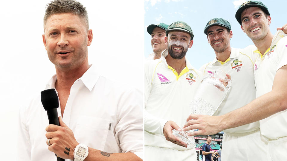 Michael Clarke, pictured here speaking to the media in Sydney.