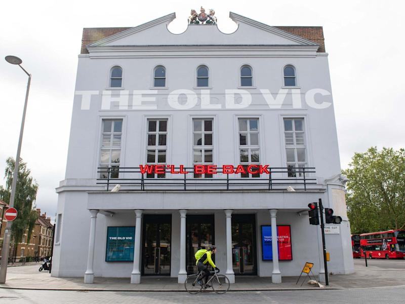 Theatres like the Old Vic in London remain closed while pubs and restaurants reopened this weekend: PA