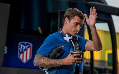 Antoine Griezmann of Atletico Madrid arrives - Credit: UEFA via Getty