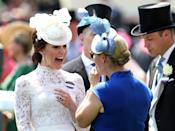 <p>Kate has previously chosen white lace for her Royal Ascot looks, as pictured here in 2017, so perhaps she will return to that as she roots around in her wardrobe. (Getty Images)</p>