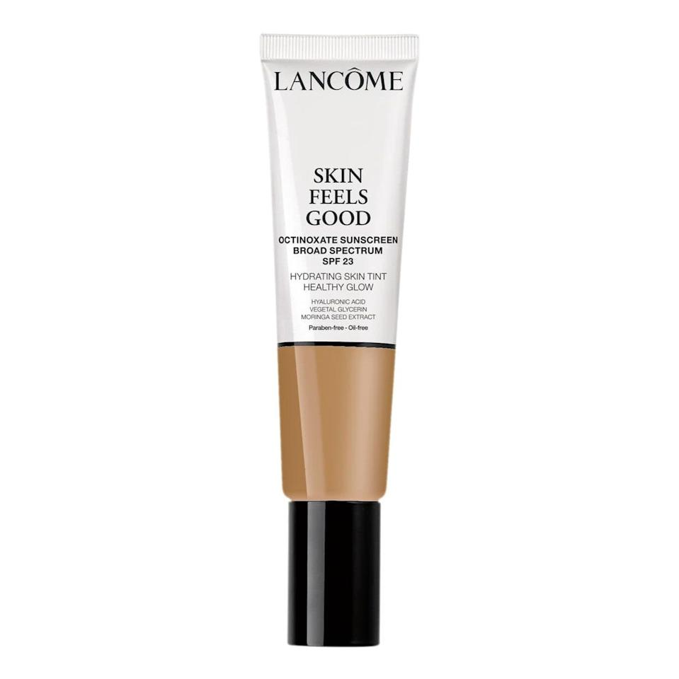 """<p>This water-based skin tint by Lancôme unsurprisingly won a 2019 Best of Beauty award, thanks to its fresh feel, light finish, and hydrating abilities. Skin Feels Good Hydrating Skin Tint's subtle coverage is perfect for those days you can't be bothered to blend. </p> <p><strong>$35</strong> (<a href=""""https://shop-links.co/1709742572563986366"""" rel=""""nofollow noopener"""" target=""""_blank"""" data-ylk=""""slk:Shop Now"""" class=""""link rapid-noclick-resp"""">Shop Now</a>)</p>"""