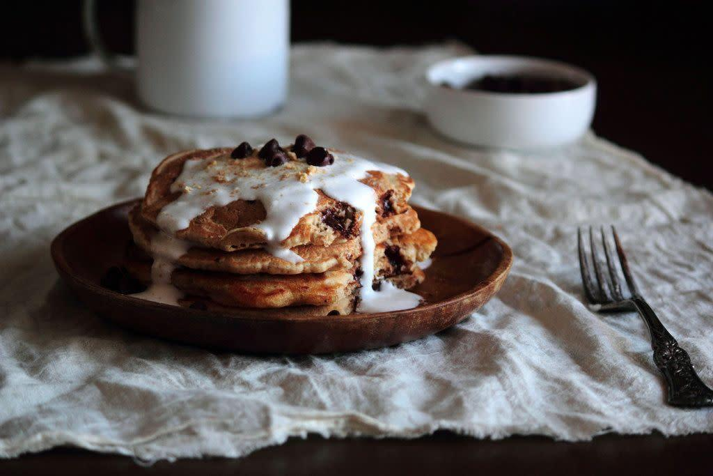 "<strong>Get the <a href=""http://www.pastryaffair.com/blog/smores-pancakes.html"" rel=""nofollow noopener"" target=""_blank"" data-ylk=""slk:S'mores Pancakes recipe"" class=""link rapid-noclick-resp"">S'mores Pancakes recipe</a> from Pastry Affair</strong>"