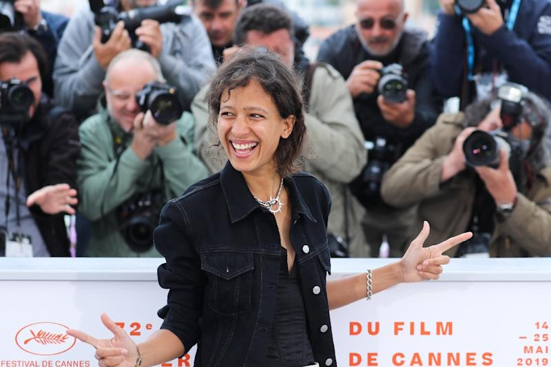 "French actress and film director Mati Diop was the first black African woman to compete for Cannes's top prize with her film ""Atlantics (Atlantique)"" (AFP Photo/Valery HACHE)"