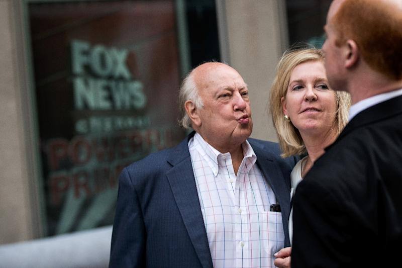 Fox News chairman Roger Ailes (pictured) quit last month after being hit by a sexual harassment lawsuit (AFP Photo/Drew Angerer)