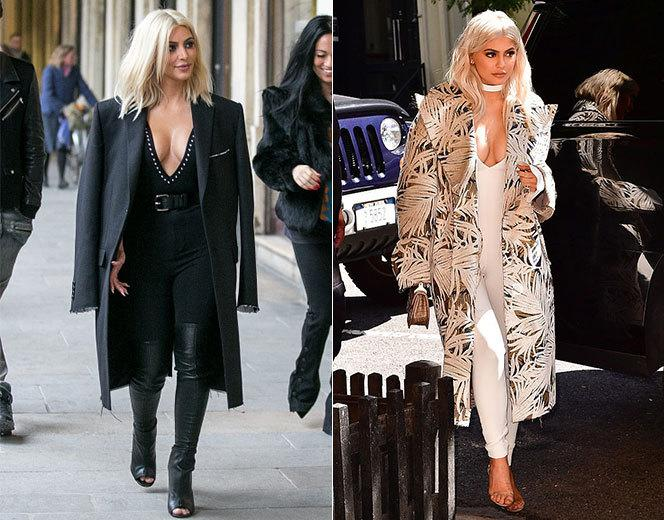 <p>The bodysuit paired with an oversized coat ensemble is just too unique to possibly be a coincidence. </p>
