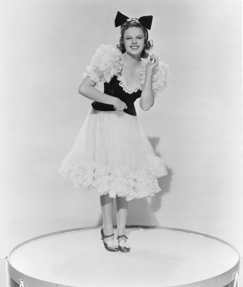 """Garland in a promotional still from the 1940 film """"Strike Up the Band."""""""